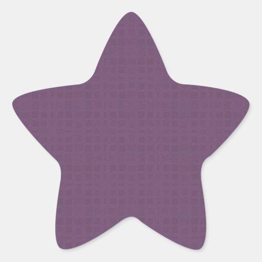 Purple Textured Pattern DIY Create Your Own Zazzle Star Sticker