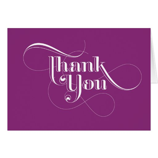 Purple Thank You Cards