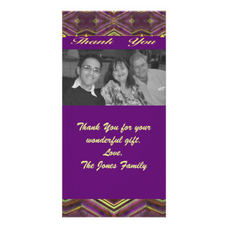 purple thank you photo cards