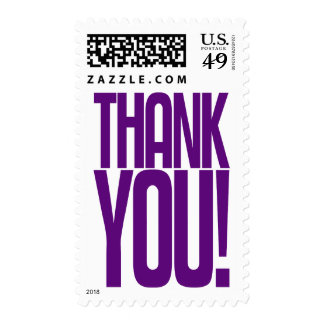 Purple Thank You! Postage Stamp