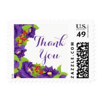 Purple Thank You  Purple Flowers Wedding Postage