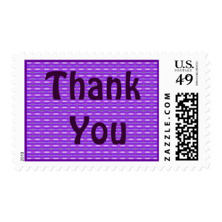 purple Thank You Stamp