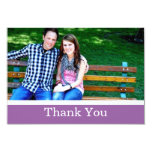 Purple Thank You Wedding Flat Cards Custom Announcements