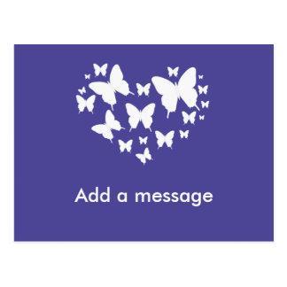 Purple Themed Butterfly Postcard