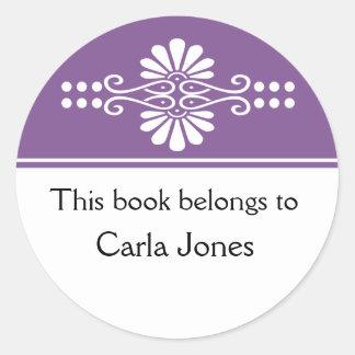 Purple This Book Belongs To Labels