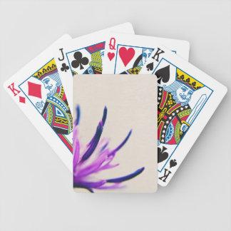 Purple Thistle Flower Petals Poker Deck