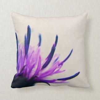 Purple Thistle Flower Petals Throw Pillow