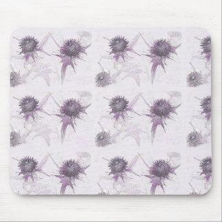 Purple thistle nature design mouse pad