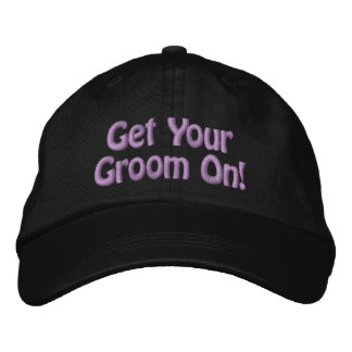 Purple Thread Get Your Groom On for Pet Groomer Embroidered Baseball Hat