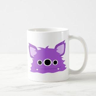 Purple Three Eyed Monster Coffee Mug