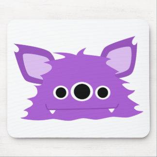 Purple Three Eyed Monster Mouse Pad