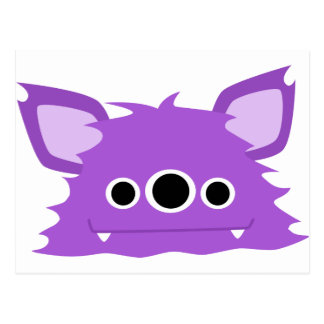Purple Three Eyed Monster Post Card