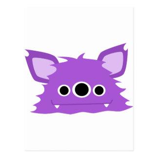 Purple Three Eyed Monster Post Cards