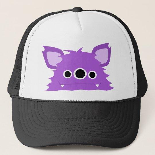 Purple Three Eyed Monster Trucker Hat