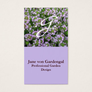 Purple Thyme Business Card