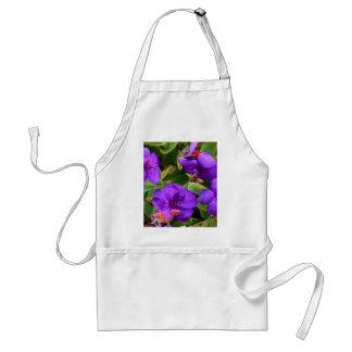 Purple Tibouchina Flowers Adult Apron