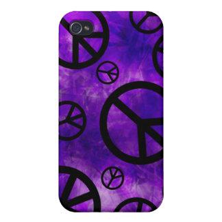 Purple Tie-Dye iPhone 4 Case