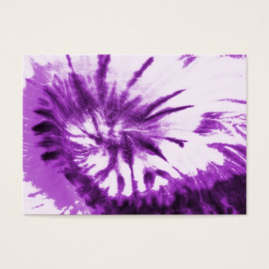 Purple Tie Dye Pattern Business Card