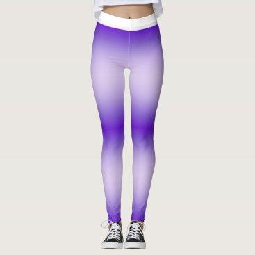 Purple Tie-Dye Print Leggings