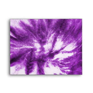 Purple Tie-Dye with Peace Symbol Envelope