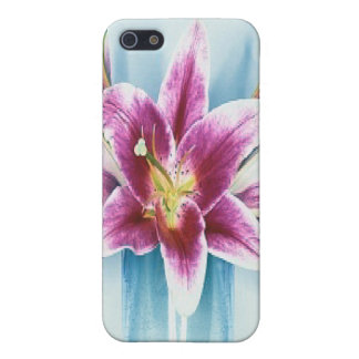 Purple Tiger Lilly  Cover For iPhone SE/5/5s
