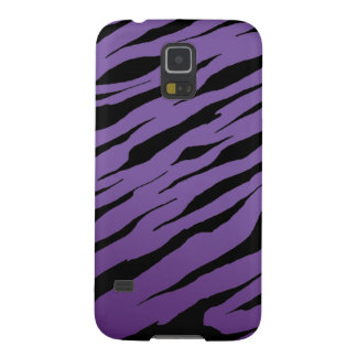 Purple Tiger Stripe Galaxy S5 Case