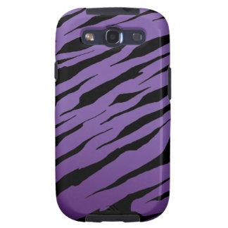 Purple Tiger Stripe Galaxy SIII Cases