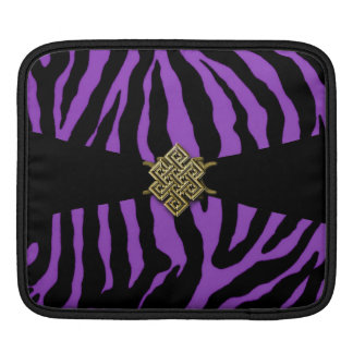 Purple Tiger Stripes with Gold Celtic Knot Sleeves For iPads