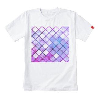 Purple Tiled Geometric Design Zazzle HEART T-Shirt
