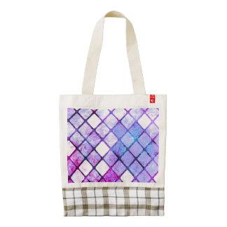 Purple Tiled Geometric Design Zazzle HEART Tote Bag