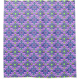 Purple Tiled Pattern Shower Curtain