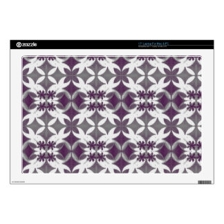 "Purple Tiles 17"" Laptop Decal"