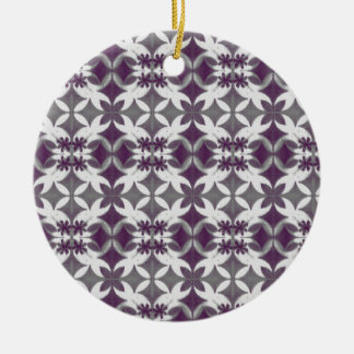 Purple Tiles Ceramic Ornament