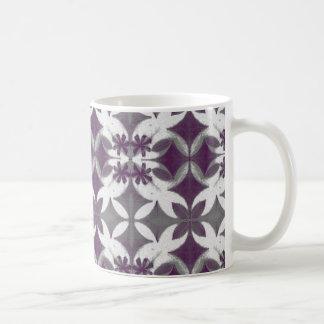 Purple Tiles Classic White Coffee Mug