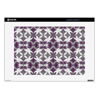 "Purple Tiles Decal For 15"" Laptop"