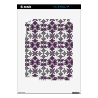 Purple Tiles Decal For The iPad 2