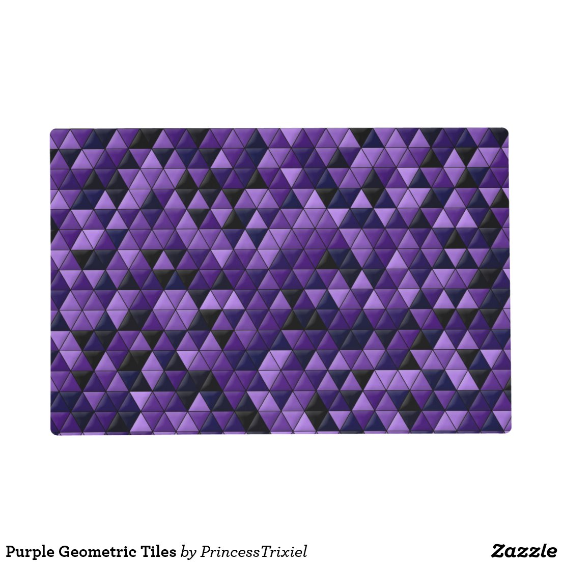 Purple Tiles Geometric Placemat