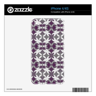 Purple Tiles iPhone 4S Decal