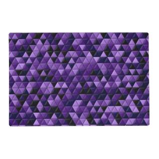 Purple Tiles Placemat at Zazzle