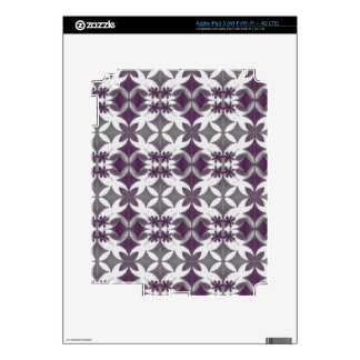 Purple Tiles Skins For iPad 3
