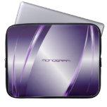 Purple Tint Metallic Look-Stainless Steel Pattern Laptop Computer Sleeve