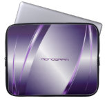 Purple Tint Metallic Look-Stainless Steel Pattern Laptop Sleeves