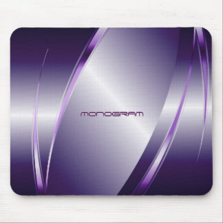 Purple Tint  Metallic Look-Stainless Steel Pattern Mouse Pad