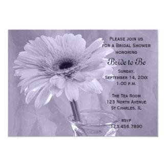 Purple Tinted Daisy Bridal Shower Invitation