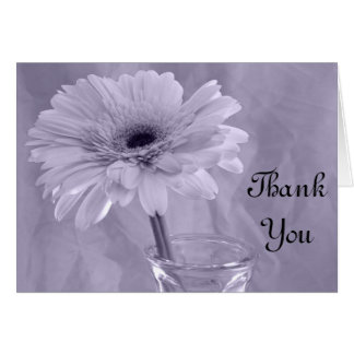 Purple Tinted Daisy Bridesmaid Thank You Note Card