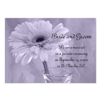 Purple Tinted Daisy Marriage/Elope Announcement