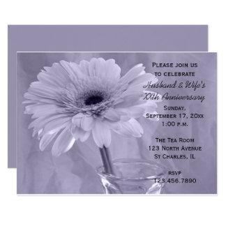 Purple Tinted Daisy Wedding Anniversary Party Card