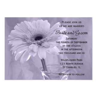 Purple Tinted Daisy Wedding Invitation