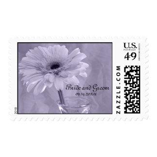 Purple Tinted Daisy Wedding Postage Stamp