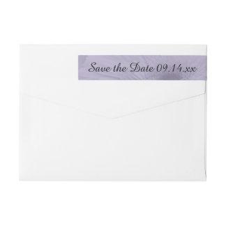 Purple Tinted Daisy Wedding Save the Date Wrap Around Label